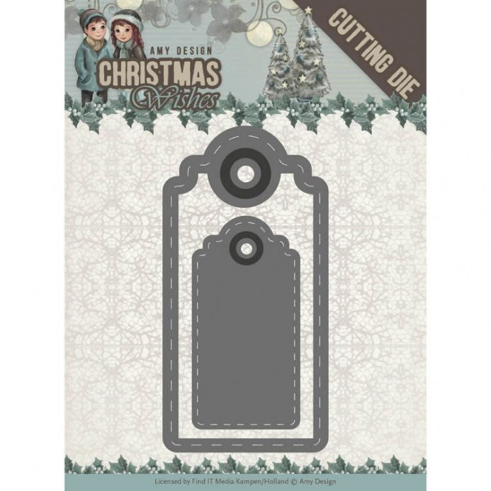 ADD10153 ~ Wishing Labels Die~ Christmas Wishes  ~ Amy Design
